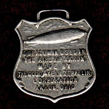 Duralumin watchfob - USS Akron - Pocket Watches