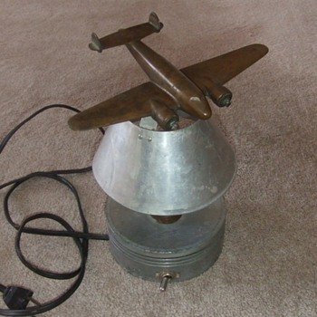 Vintage Lockheed Model 10 Electra lamp - Military and Wartime