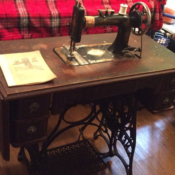 New Home Treadle Sewing Machine Collectors Weekly Fascinating Antique New Home Treadle Sewing Machine Value