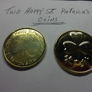 TWO HAPPY ST. PATRICK'S DAY COINS