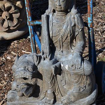3 ft tall Kali Maa / Durgan Ma Stone Statue - Asian