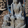 3 ft tall Kali Maa / Durgan Ma Stone Statue