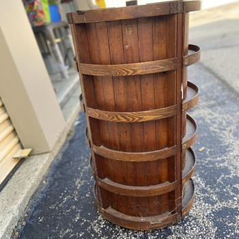 Early apothecary spindle cabinet for tinctures and what nots! - Furniture