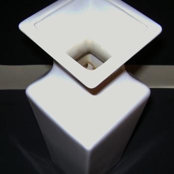 White Haeger Vase - Pottery