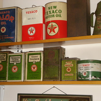 Texaco Can Collection - Petroliana