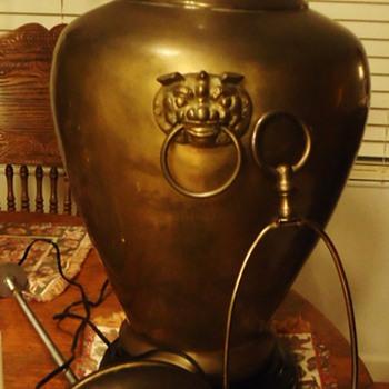 Brass Vase Lamp, now a vase again  Large - Asian