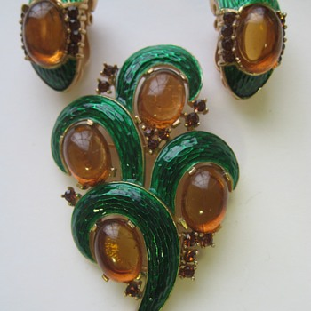 Trifari L'Orient Brooches - Costume Jewelry