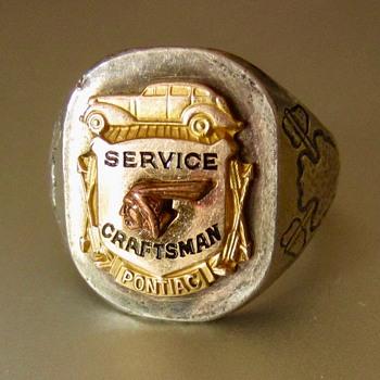 1930s Pontiac service ring - Advertising