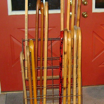 Store Display Walking Cane Rolling Wire Rack - Accessories