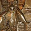 Late 19th Century Russian Bronze Icon Set in Original Box Or Kiot Of Jesus Christ