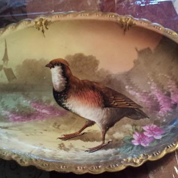 Limoges Game Bird 13 Piece Plate Set