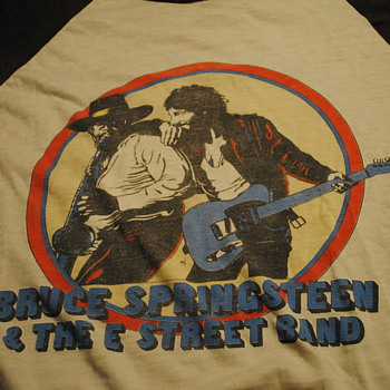 1980-81 Bruce Springsteen Tour T Shirt - Mens Clothing
