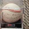 "Hank Aaron autographed baseball ""home run king 58/100"" psa/dna authenticated"