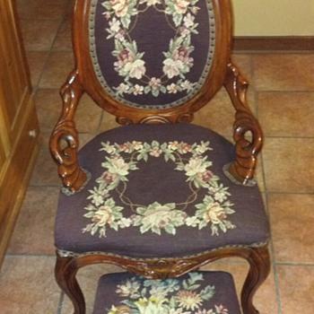 Victorian Ladies Parlor Chair - Furniture