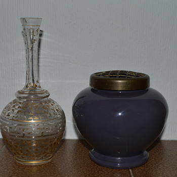 Two Bohemian? glass vases - Art Glass