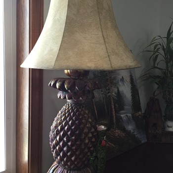 My new favorite pineapple lamp  - Art Deco