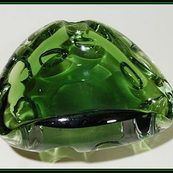 ( Unknown ) Art Glass Ashtray  - Art Glass