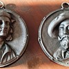 Rare Iron Berlin Relief Medallions - portraits of Rubens and Raphael (2) - end 18th begin 19th century