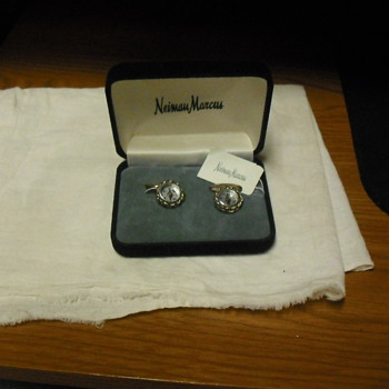 Neiman Marcus Sterling Compass Cuff Links