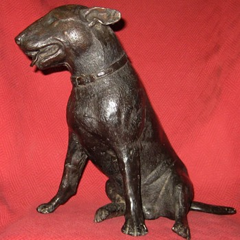 Bronze Miniature English Bull Terrier - Animals