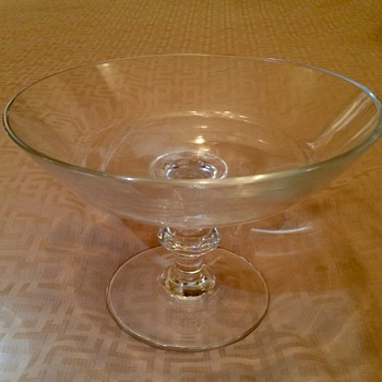Mystery SIGNED BLOWN GLASS Compote - Can you decipher? - Art Glass