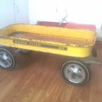 Yellow Radio Flyer GT Muscle Wagon