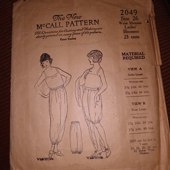 Early 1900's McCall's Sewing Pattern - Sewing