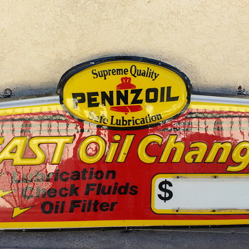 Pennzoil lighted sign - Signs
