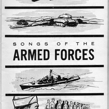1957 - The Army-Air Force Song Book - Music Memorabilia