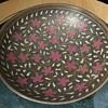 Large Benares Enamel Bowl from India