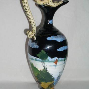 Marmaca - San Marino Double Handle Serpent Ewer  - Pottery