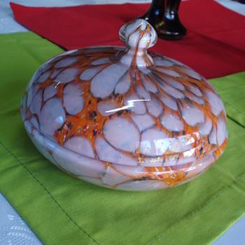 Rare Ruckl?  lidded jar - Art Deco