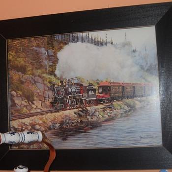 Locomotive print - Railroadiana
