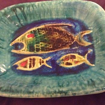 SMF Schramberg? Glazed Fish Dish - Pottery
