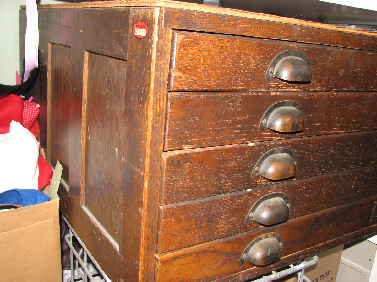 Gorgeous Antique Dark Oak Architectu0027s Flat File Cabinet | Collectors Weekly