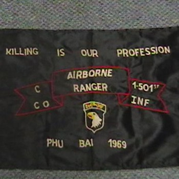 """Late 1960's """"Hooch"""" Banner - Military and Wartime"""