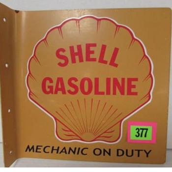 Shell 2 sided Flange sign - Petroliana