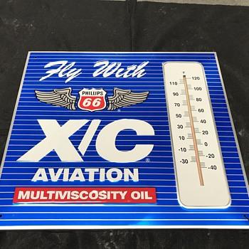 Phillips 66 aviation thermometer  - Petroliana