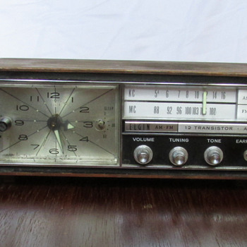 Elgin- Transistor Alarm Clock - Clocks
