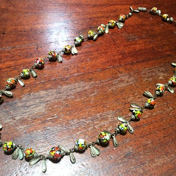 Spotty glass bead necklace - Costume Jewelry