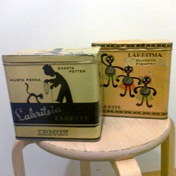 Tin candy box Finland - Advertising