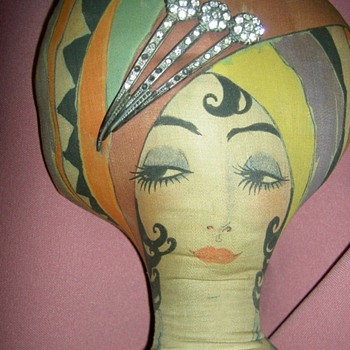 Valine's Perfume Advertising Boudoir Bed Doll  - Art Deco