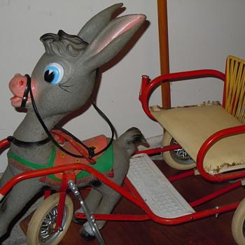 Children's Donkey Pedal Cart