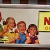 1950s NEHI Trolley sign