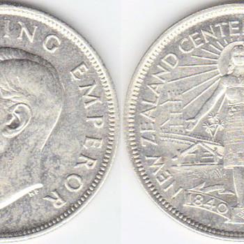 1940 NZ Halfcrown - World Coins