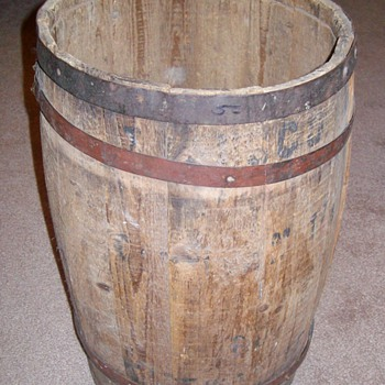 Old Wooden Nail Keg - Tools and Hardware