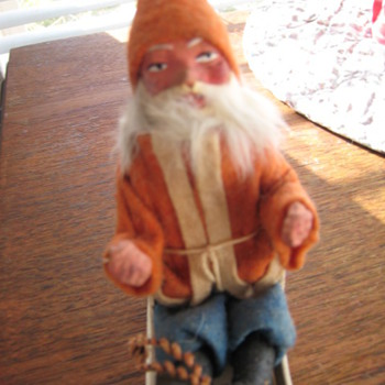 santa claus in his sled - Christmas