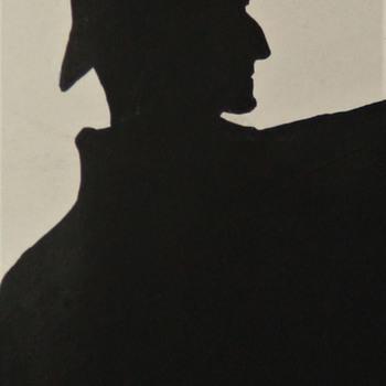 Silhouette Artwork by Honoria Marsh Of Sherlock Holmes and Irene Adler - Fine Art