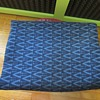 """Cornflower Navy Blue """"V"""" Heavy Wool Blanket"""
