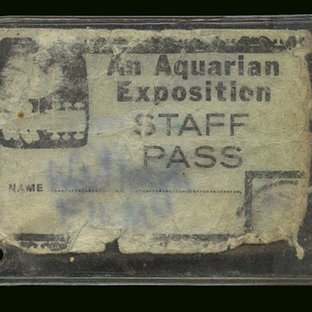 "Original Woodstock 1969 ""An Aquarian Exposition"" Staff Pass"